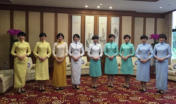 上海纺织集团设计制作服装亮相北京钓鱼台国宾馆
